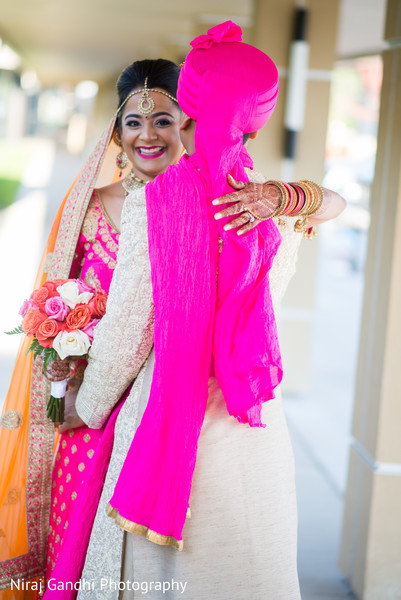 indian wedding gallery,first look photography,outdoor photography,indian bride and groom