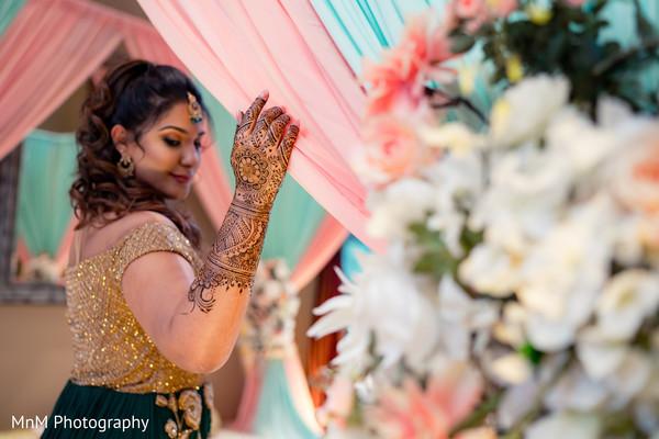 Elegant indian bride posing for photo shoot