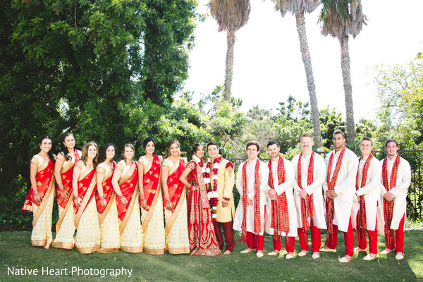 indian groomsmen,indian bride and groom,indian bridesmaids,indian wedding photography
