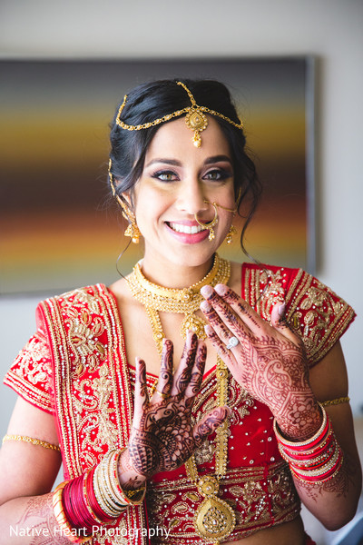 indian bride,bridal jewelry,hair and makeup