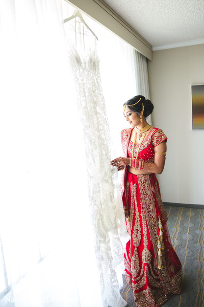 indian bride,bridal fashion,red bridal lehenga