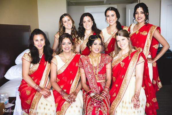 indian bride,bridal fashion,indian bridesmaids,indian wedding photography