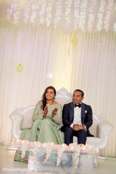 Gorgeous indian couple during wedding reception