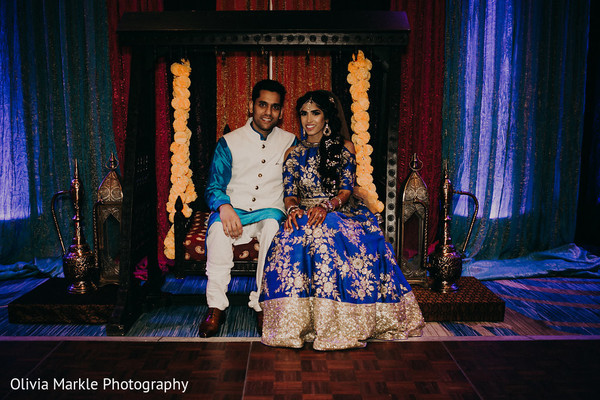 indian bride and groom,pre-wedding fashion,sangeet,floral and decor