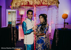 Sensational Indian bride and groom sangeet night photo shoot.