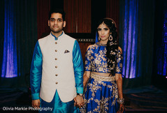 Stylish Indian bride and groom.