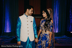 Captivating Indian bride and groom photo.