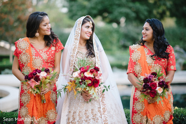 Indian bride and her lovely entourage.