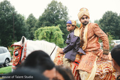 Traditional Indian groom horse ride.