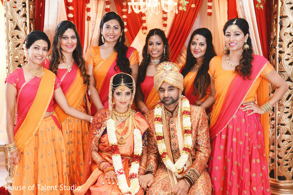 indian wedding ceremony,indian bride and groom,indian bridal party
