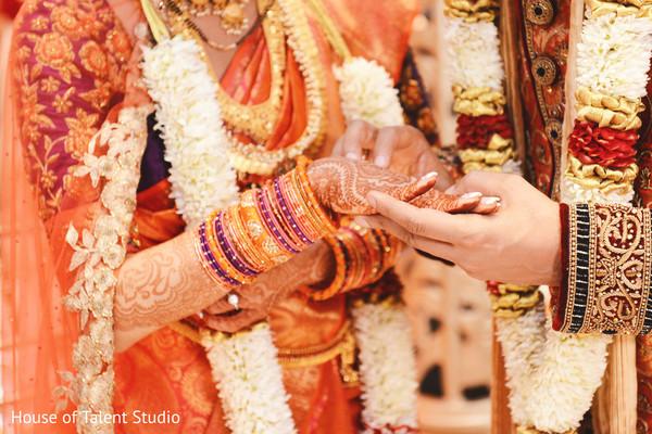 indian wedding ceremony,indian bride and groom,ring exchange