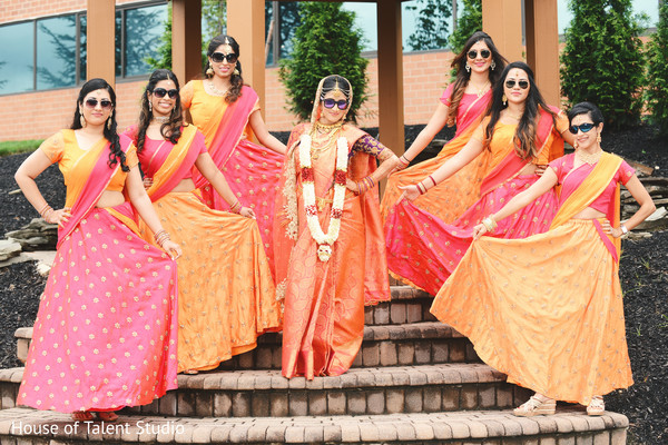 indian bride,indian bridal party fashion,indian wedding photography