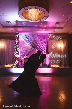 indian wedding reception,lighting,indian bride and groom