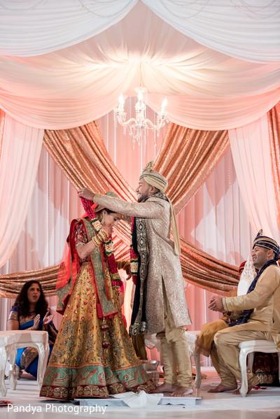 Traditional indian wedding jai mala ritual