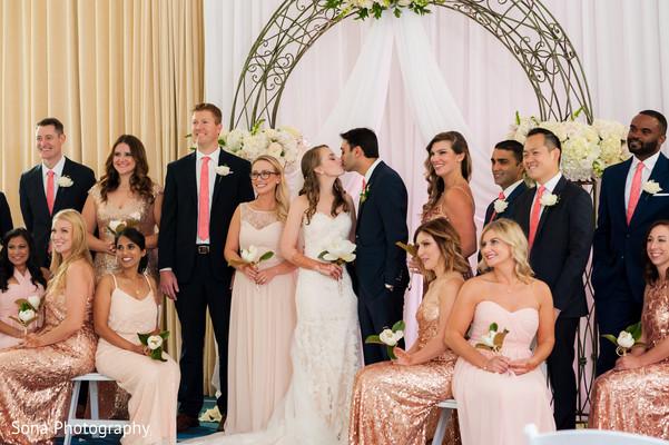 indian wedding ceremony,indian bride and groom,indian bridesmaids and groomsmen