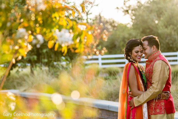 Effortlessly beautiful Indian bride and groom.