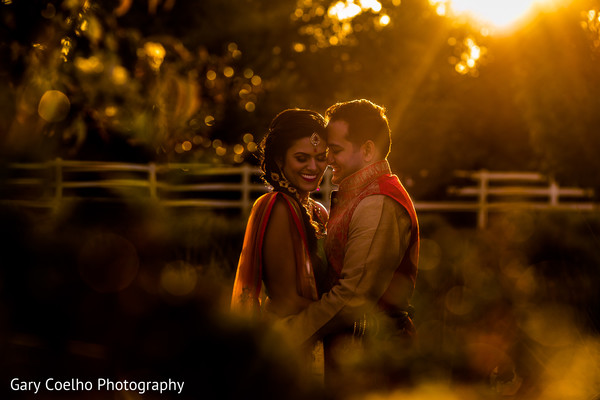 Beautiful sunset pre- Indian wedding photo shoot.