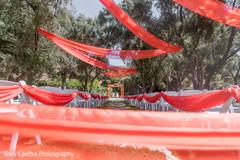 Amazing Indian wedding ceremony draping.