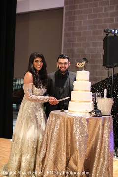 Cutting the cake moment