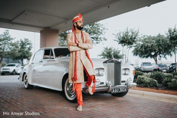 indian wedding gallery,wedding car,transportation,indian groom fashion