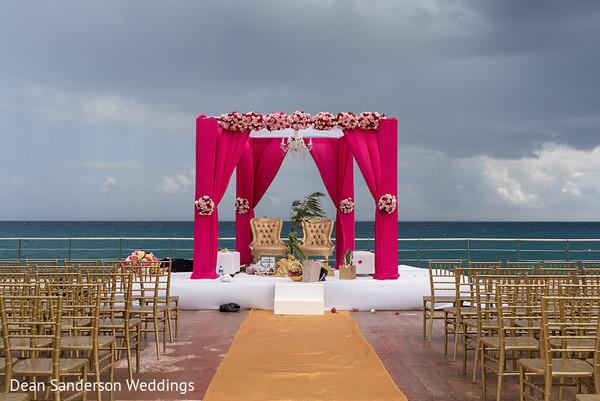 Seaside Indian wedding ceremony.