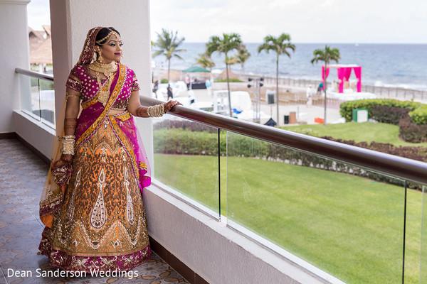 Classic Indian bridal look.