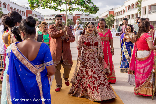 Indian bride grand entry.