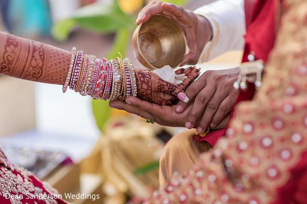Traditional Indian wedding ritual.