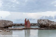 Maharani and Rajah beach wedding portrait.