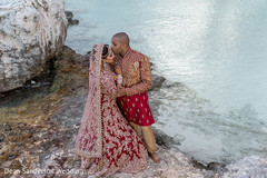 Fascinating Indian bride and groom picture.