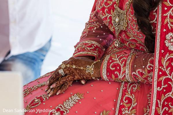Indian bride mehndi.