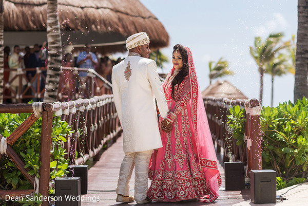 Indian bride and groom candid moments.