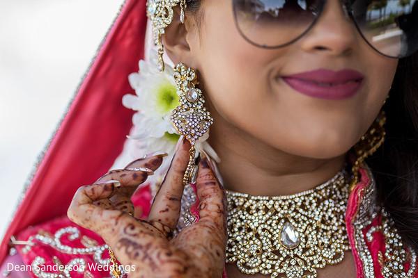 Indian bride's jewelry piece.
