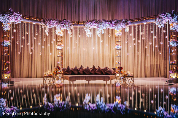 Indian Wedding Reception Stage Decor Photo 154347