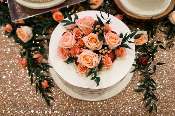 Charming Indian wedding cake.