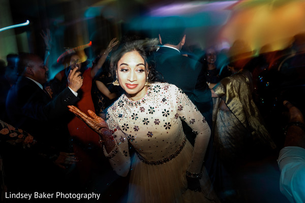 Indian bride showing off her moves.