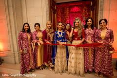 indian wedding ceremony,milni ritual,indian bridesmaids