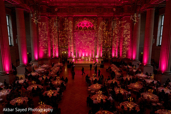 Over the top indian wedding reception