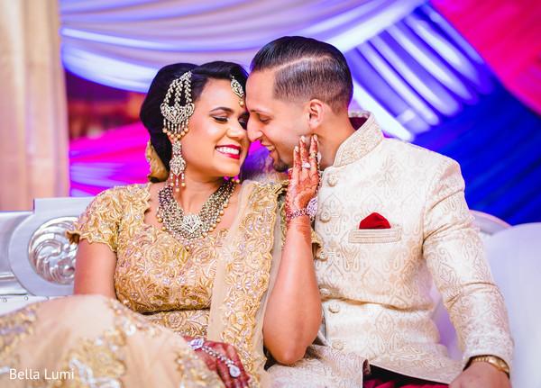 Heavenly Indian bride and groom capture.