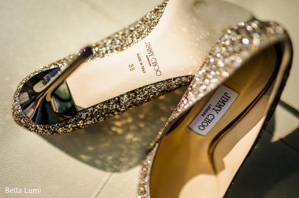Dazzling Indian bride shoes.
