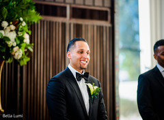 indian groom,tux,indian fusion wedding ceremony