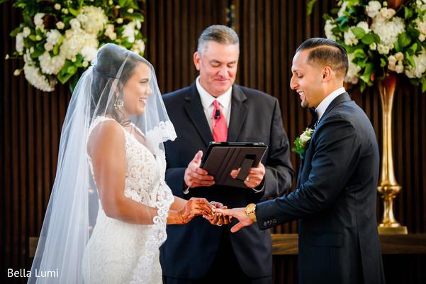 Ring exchange ceremony.
