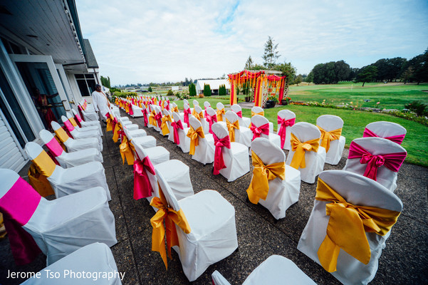 Indian wedding ceremony chairs capture
