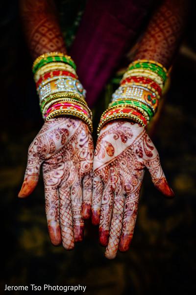Beautiful indian bride henna art