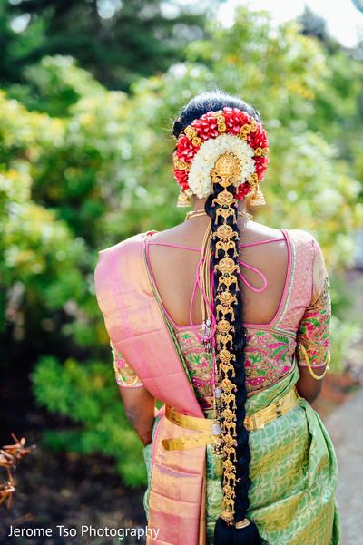 Wonderful indian bridal hair style