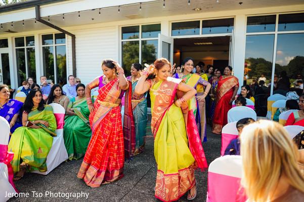 Indian bridesmaids making their entrance