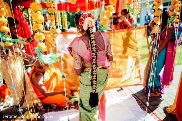 Indian groom's antarpaat ritual