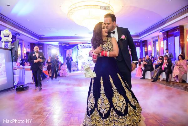 Romantic indian wedding first dance scene