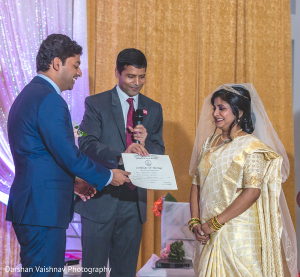 Lovely indian couple during wedding ceremony