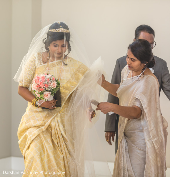 Indian bride's entrance